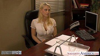 Blondes Kagney Linn Karter and Shawna Lenee fucking in the office